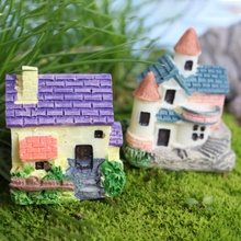 New Design DIY House Cottages Mini Craft Miniature Fairy Garden Home Decoration Houses Micro Landscaping Decor Accessories(China)