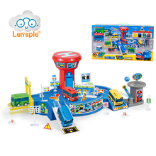 Lensple Hot Sale Tayo Little Lovely Bus Station Watchtower Model Parking Lot 4 Types Interesting Bus Station For Children's Gift(China)