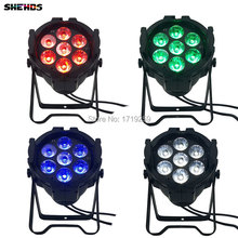 4pcs/lot LED Par Can 7x12W Aluminum alloy LED Par RGBW 4in1 DMX512 Wash dj stage light disco party light Dj Lighting