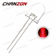 50pcs 10mm Red LED Diode Water Clear 20mA 2V 620-625nm Light Round Ultra Bright Through Hole 10 mm Light Emitting Diode LED Lamp