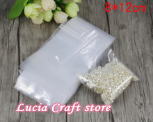 Lucia crafts 8*12cm Storage bag Zip Lock Bag With Resealable Zipper PP Plastic Packing Bags 48pcs/lot  19010021(8*12Z48)