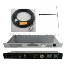 30W CZE-T501 FM transmitter 0-30w power adjustable radio broadcaster RDS port 1/2 DIPOLE ANTENNA kit(China)