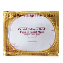 DHL 1000pcs Facial Mask Gold Bio Collagen Crystal Collagen Powder Face Masks for Moisturizing Oil-control Anti-aging Skin Care(China)
