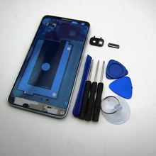 Genuine Middle frame for Samsung Galaxy Note 3 III N9005 N900 Back Plate Bezel Housing Case + button + Tools Replacement Parts