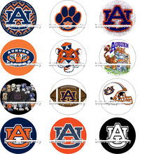 NCAA auburn FOOTBALL galss Snap button Jewelry Charm Popper for Snap Jewelry 50PCS/LOT