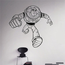 Buzz Lightyear Wall Vinyl Decal Toy Story Wall Sticker Cartoons Home Interior Children Kids Room Removable Decor(China)