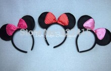 wholesale kids birthday party supplies, Photography props,minnie mouse ears headband,the accessories of children's headwear