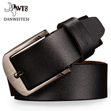 Buy DWTS Buckle Belts Men cowhide genuine leather belts men brand Strap male pin buckle fancy vintage jeans cintos for $10.62 in AliExpress store