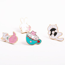 Micro chapter fashion jewelry charm women Animation cartoon brooch The girl clothes deserve to act the role of popular adorn art