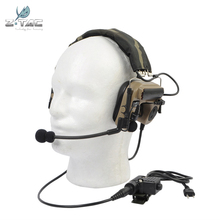 Z-Tactical Element TAC IV Noise Reduction Headset with U94 Version Pin PTT Headphones Outdoor Combat High Tone Quality Earphone