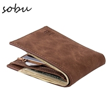Hot Selling Classic Leather Coin Purses Bag Zipper New Design Dollar Price Top Slim Men Wallet R027(China)