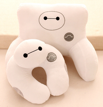 Candice guo! Newest arrival Super Marines big hero 6 Baymax white fat man plush toy U neck pillow waist cushion 1pc(China)