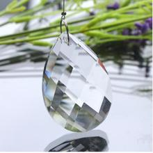720pcs Chandelier Crystal Pendant 38mm Almond Teardrop Prism Lamp Parts Pendant Shining Crystal Glass Suncather Free shipping(China)