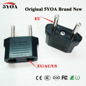 5YOA Universal US AU EU Plug USA Euro Europe Travel Wall AC Power Charger Outlet