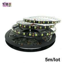 5m/roll 300LED Black PCB Waterproof IP65 5050SMD LED Flex strip DC12V 60leds/m Warm white/White/RGB led strip light