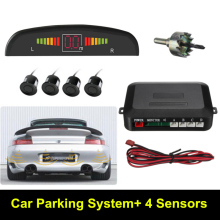 New Auto Car Reverse Parking System LED Parking Sensor With 4 Sensors Reverse Backup Car Parking Radar Monitor Detector System(China)
