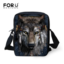 Moon Light Tiger Wolf Printing Messenger Bags for Men Women Hot Brand Designer Small Cross Body Bags for Ladies Mens Travel Bags