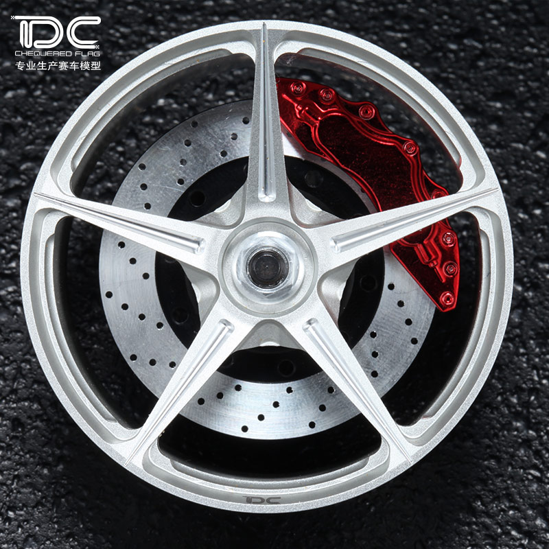 DC RC 1:10 458 WHEEL OFFSET +6/+9mm SILVER/BLACK EP 1:10 RC CARS DRIFT ON ROAD RWD AWD DC-90113, 4PCS
