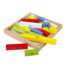 Montessori Infant Toddler Material -Wooden Colored Number Rods Wooden Toys Educational Toys Good Gift Kids Juguetes