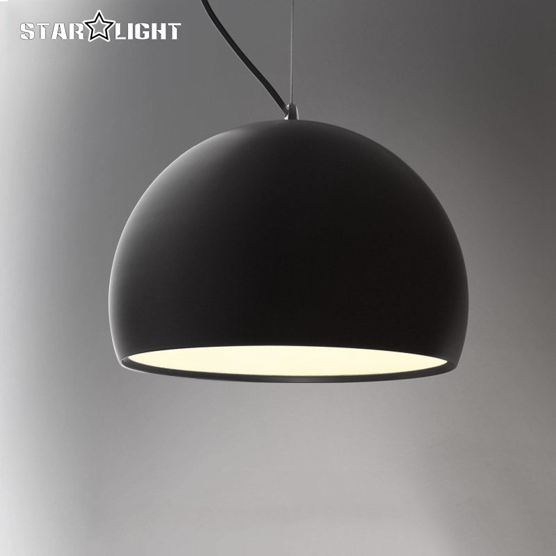 Modern E27 Pendant Lights Black and white Aluminum lampshade suspension lamp For Dining Room Hanging Lamp<br>