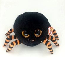 Ty Beanie Boos Big Eyes Plush Toy Doll 10 - 15cm Black Spider TY Baby For Kids Brithday Gifts