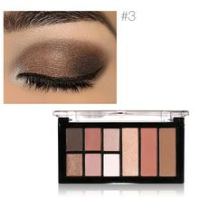 Eye Makeup Sexy Baked Eyeshadow Matte&Shimmer Smoky Eyeshadow Palette Natural 9 Colors(China)