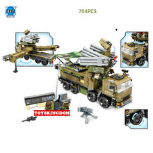 Modern Military Wars Armor 51 Mobile Defense Command Center Headquarters Lepins Building Block Army Figures Truck Bricks Toys