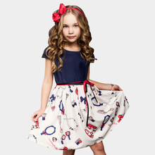 2-8 Years Girls Summer Dress 2017 Children Causal Dresses Toddler Girls Princess Dress For Party Kids Dresses For Girls(China)