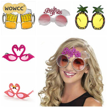 Hawaii Beach Flamingo Pineapple Sunglasses Goggles Bachelorette Hen Night Stag Party Favors Carnival Party Decoration