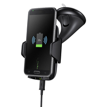 Luxury Qi Wireless Moblile Phone Car Charger Fast Charging Compatible for iphone 8 8plus x Samsung S8 S7 NOTE5(China)