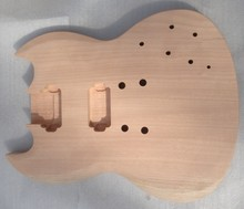 Beautiful unfinished electric guitar body , unvarnished guitar body SG body