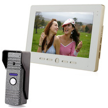"10"" TFT Color LCD Display Video Door Phone Visual Intercom Doorbell Hands Free IR Night Vision(China)"