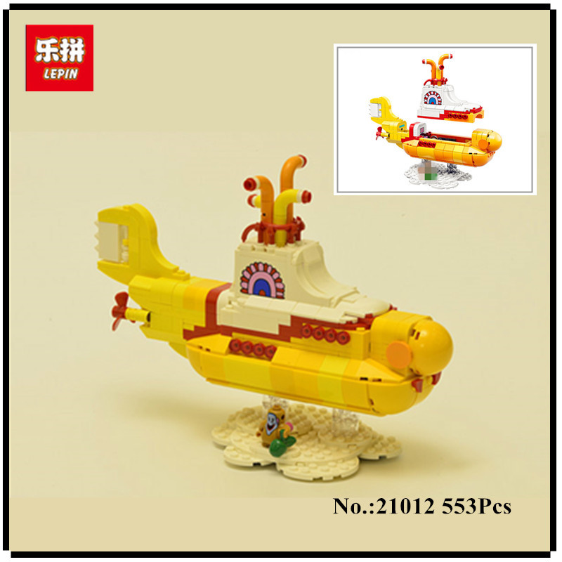 IN STOCK NEW Lepin 21012 553Pcs The beatles yellow submarine Set 21306 Educational Building Blocks Bricks Children Toys Gifts <br>