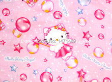 hk116 - 1 Yard Cotton Sateen Fabric - Sanrio Cartoon Characters, Hello Kitty Magic Fairy - Light Pink (W105)
