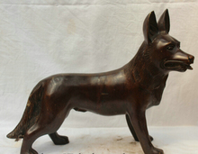 "Free shipping shitou 001473 13"" Lifelike China Chinese Bronze Wild Animal Wolf Dog Statue Figure Sculpture"
