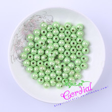 Wholesale Free Shipping 500pcs/lot 8mm Chunky Color Miracle Light Green Beads For DIY Material Ebay Suppliers CDWB-517787