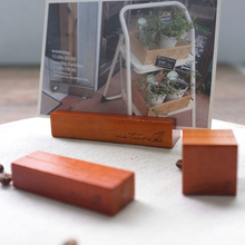 Natural Wood Block Memo Pincer Clips Paper Photo Holder Clamps Stand Card Stand Message Holder Crafts Gift Office Home Decor(China)