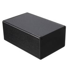 1pc Electronic Project Instrument Box Black Aluminum Enclosure Case 100x66x43mm Mayitr with Corrosion Resistance(China)