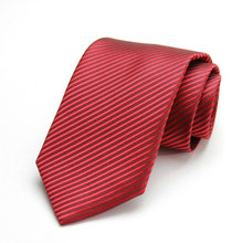 Free Shipping Cheap 2015 south korean silk commercial formal tie marriage tie 8cm tie deep red stripe