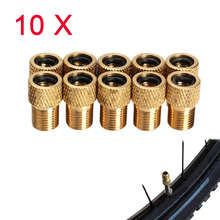 Buy 10pcs/lot Presta Schrader Air Pump Bicycle Bike Valve Type Adaptor Converter Adapter Zinc Alloy Bicycle Pump Accessories for $1.67 in AliExpress store