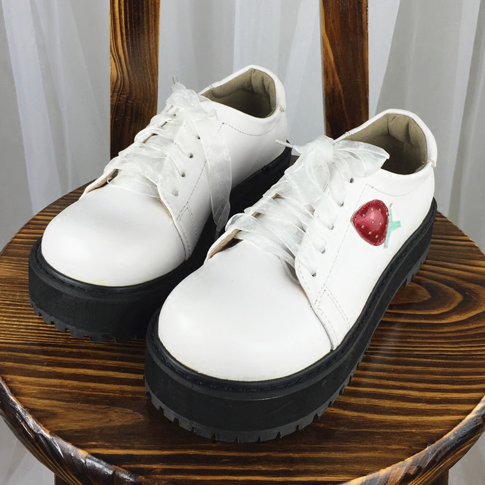 Japans New Lolita Lolita Soft Sister Shoes Thick Bottom Shoes Slip Student Cute Strawberry Shoes Women Shoes<br><br>Aliexpress