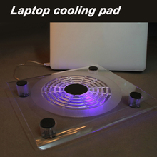 New ! Portable laptop cooler with  usb fan top quality suporte para notebook with led light stand laptop cooling pad for 10-14""