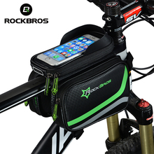 ROCKBROS MTB Bicycle Frame Front Bag Head Top Tube Double IPouch Touch Cycling Pannier For 5.8 /6 inch Smartphone Touch Screen(China)