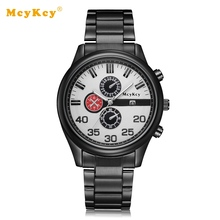 Mcykcy Brand Cheap Fashion Men Watches Steel Quartz Luxury Mens Wrist Watches For Male Dress Clock Mens Business Watch