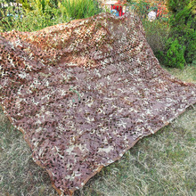 1.5X2.5M Military Desert camouflage net woodland leaves camo netting Camo Cover for out door hunting Camping(China)