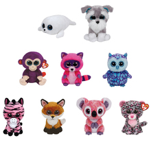 "Ty Beanie Boos Plush 6"" 10"" Stuffed Animals Dog Leopard Panda Monkey Raccoon Unicorn Seal Penguin Safari Zebra Sheep Doll Toy(China)"