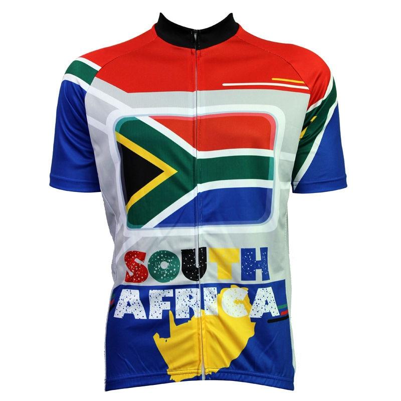 Alien SportsWear SOUTH AFRICA Flag Pattern Men Full Zipper Cycling Jerseys Spring top Sleeve bike Bike Jerseys Cycling<br><br>Aliexpress
