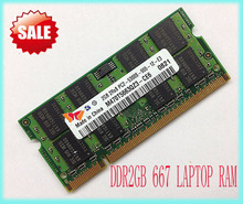 New brand 2GB PC2-5300S DDR2-667 667Mhz 200pin DDR2 Laptop Memory 2G pc2 5300 667 Notebook Module SODIMM RAM