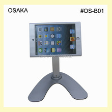 for mini iPad table rotaiton stand  with security lock display kiosk POS for menu ordering on retaurant hotel shop retail store