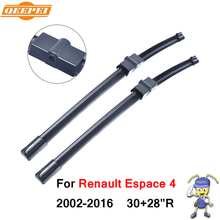 QEEPEI Windscreen Wipers For Renault Espace 4 2002-2016 30+28''R Car Rubber Wiper Blade Accessories For Auto,CPA202